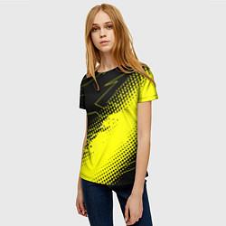 Футболка женская Bona Fide Одежда для фитнеcа цвета 3D-принт — фото 2