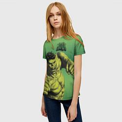 Футболка женская Hulk цвета 3D-принт — фото 2