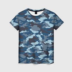 Женская футболка Камуфляж МВД