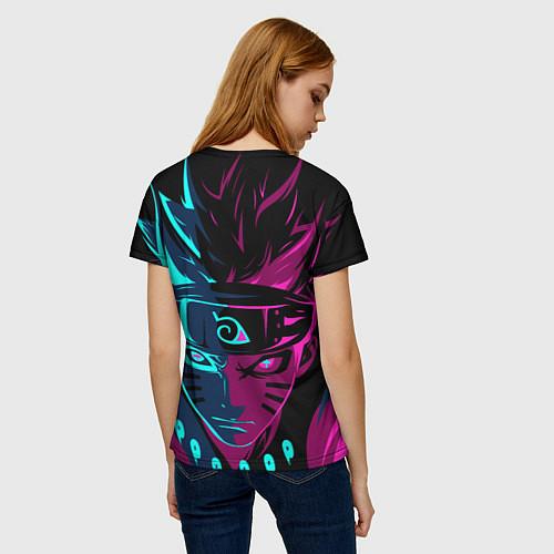 Женская футболка Неоновый НАРУТО / 3D – фото 4