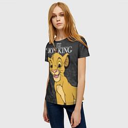 Футболка женская Король Лев цвета 3D — фото 2
