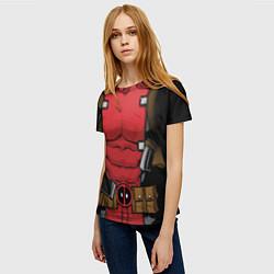 Футболка женская Deadpool цвета 3D-принт — фото 2