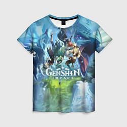 Женская футболка Genshin Impact