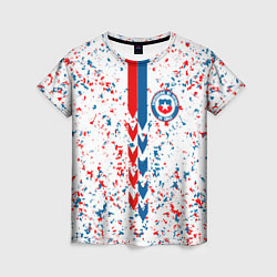 Футболка женская Сборная Чили цвета 3D-принт — фото 1