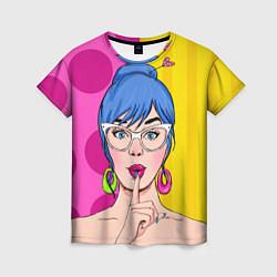 Женская 3D-футболка с принтом POP ART, цвет: 3D, артикул: 10076903903229 — фото 1