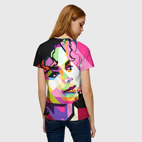 Женская футболка Michael Jackson Art / 3D – фото 4