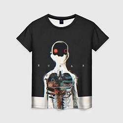 Футболка женская Three Days Grace: Skeleton цвета 3D — фото 1