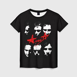 Женская футболка Группа АлисА