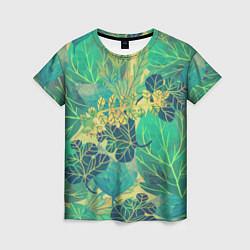 Женская футболка Узор из листьев