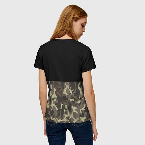 Женская футболка FCK U: Camo / 3D – фото 4