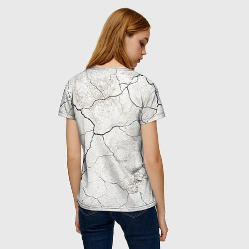 Женская футболка Train hard / 3D – фото 4