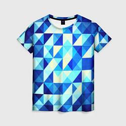 Женская футболка Синяя геометрия