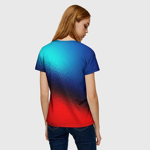Женская футболка Синий и красный / 3D-принт – фото 4