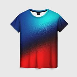 Женская футболка Синий и красный