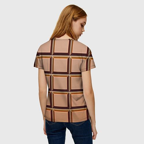 Женская футболка Шоколад / 3D – фото 4