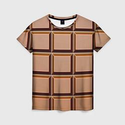 Женская футболка Шоколад