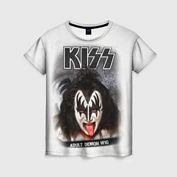 Женская футболка KISS: Adult demon wig