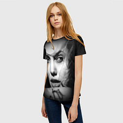 Футболка женская Глаза Джоли цвета 3D — фото 2