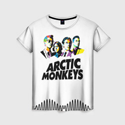 Футболка женская Arctic Monkeys: Music Wave цвета 3D — фото 1