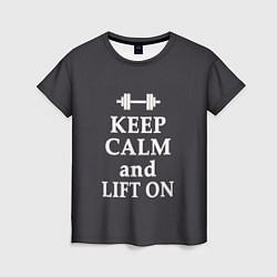 Футболка женская Keep Calm & Lift On цвета 3D — фото 1