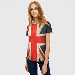 Футболка женская Великобритания цвета 3D — фото 2