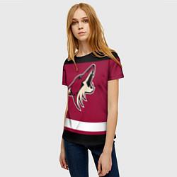 Футболка женская Arizona Coyotes цвета 3D-принт — фото 2