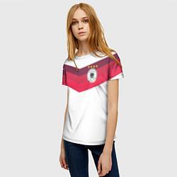 Футболка женская Сборная Германии по футболу цвета 3D-принт — фото 2