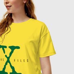 Футболка оверсайз женская The X-files цвета желтый — фото 2