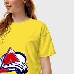 Футболка оверсайз женская Colorado Avelanche цвета желтый — фото 2