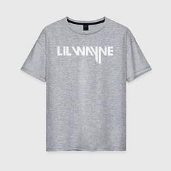 Футболка оверсайз женская Lil Wayne цвета меланж — фото 1