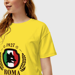 Футболка оверсайз женская AS Roma: Grande Amore цвета желтый — фото 2