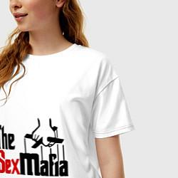 Футболка оверсайз женская The SexMafia цвета белый — фото 2