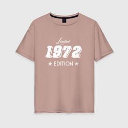 Футболка оверсайз женская Limited Edition 1972 цвета пыльно-розовый — фото 1