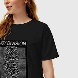Футболка оверсайз женская Joy Division: Unknown Pleasures цвета черный — фото 2