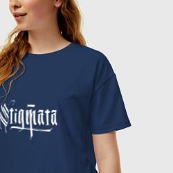 Футболка оверсайз женская Stigmata цвета тёмно-синий — фото 2