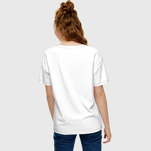 Женская футболка оверсайз Ежик на велосипеде / Белый – фото 4