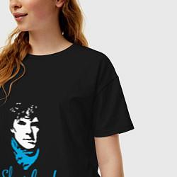 Футболка оверсайз женская Sherlock цвета черный — фото 2