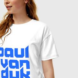 Футболка оверсайз женская Paul van Dyk: Filled цвета белый — фото 2