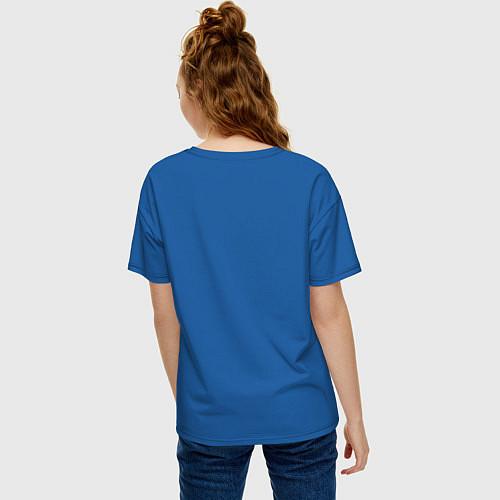 Женская футболка оверсайз Made in 1994 / Синий – фото 4