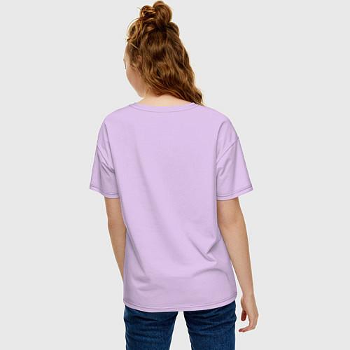 Женская футболка оверсайз Её лучшая подруга / Лаванда – фото 4