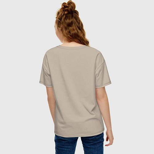 Женская футболка оверсайз Подруги навеки / Миндальный – фото 4