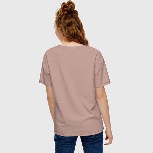 Женская футболка оверсайз Да, я с ней / Пыльно-розовый – фото 4