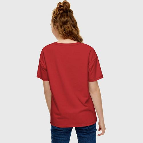 Женская футболка оверсайз The Beatles Revolution / Красный – фото 4
