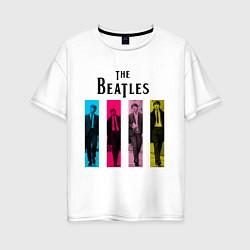 Футболка оверсайз женская Walking Beatles цвета белый — фото 1