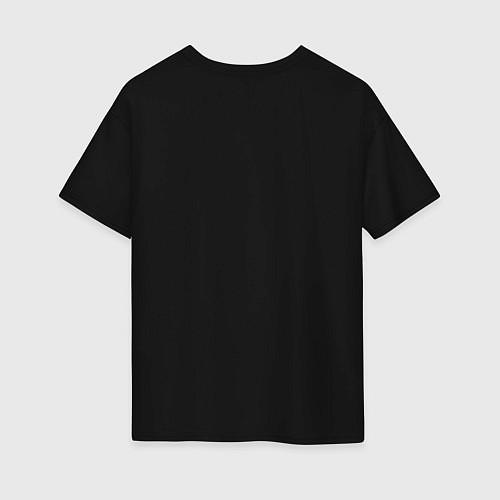 Женская футболка оверсайз Love peace the Beatles / Черный – фото 2