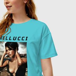 Футболка оверсайз женская Monica Bellucci: Dress цвета бирюзовый — фото 2