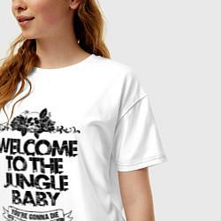 Футболка оверсайз женская Welcome to the Jungle цвета белый — фото 2