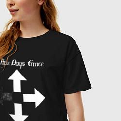 Футболка оверсайз женская Three Days Grace цвета черный — фото 2