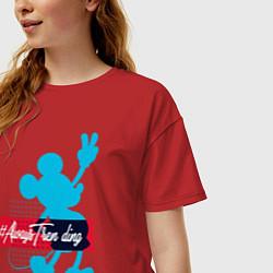 Футболка длинная женская Disney Микки Маус - фото 2