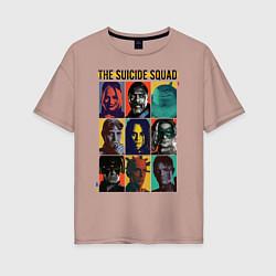 Футболка оверсайз женская The Suicide Squad цвета пыльно-розовый — фото 1